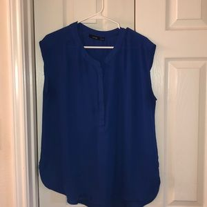 Blue Apt 9 polyester top with zipper